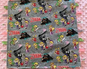Legends of Zelda non-looping ribbon sensory blanket