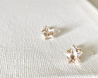 Star Studs Invisible Clip On Earrings Ear Cuffs  #130