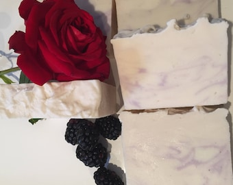 Berry Rose!  Delightfully Uplifting Scent, Berry and Citrus Scent with Rosy Undertones, Handcrafted Cold Process Soap with Shea Butter