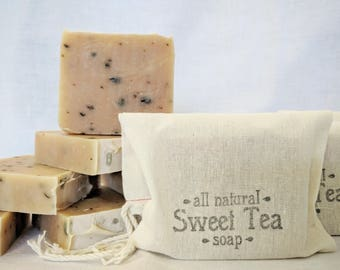 Good 'ol Sweet Tea Soap - All Natural soap, Handmade soap, Vegan soap, Green Tea Soap made with Essential Oils and Organic Ingredients