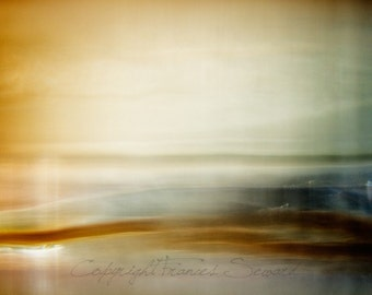 Abstract Landscape, abstract oceanscape, abstract collage, brown, waves, coastal decor, modern wall art, abstract beach photo, landscape art