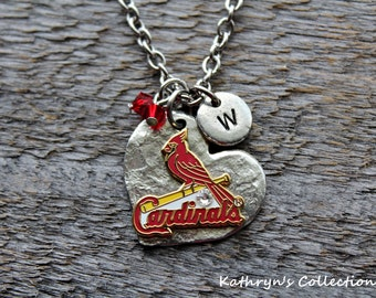 St. Louis Cardinals Necklace, Cardinals Jewelry, Cardinals Fan Wear, Baseball Jewelry