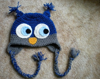 PATTERN:  Owl hat any size, newborn to adult, easy crochet PDF, kids animal hat, InStAnT DowNLoAd, Permission to Sell