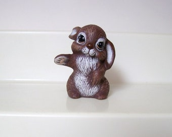 Rabbit, bunny, miniature ceramic bunny