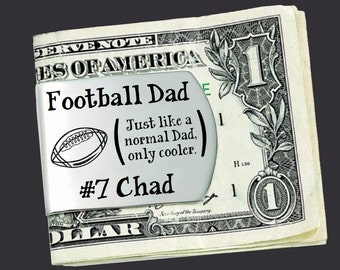 Football Dad | Fathers Day Gift | Dad Gift | Gift for Dad | Dad Gifts | Husband Gift | Custom Money Clip | Money Clip Korena Loves