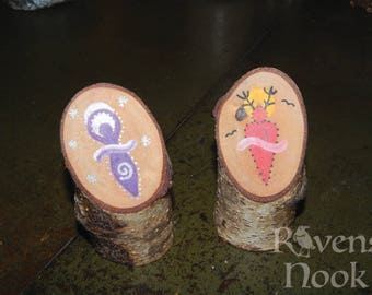 Silver Birch God and Goddess Altar Decorations