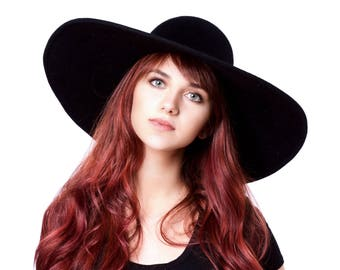 Floppy Wide Brimmed Hat Floppy Hat Fall Hat 6 Inch Brim Boho Hat Hippie Chic Fall Fashion Floppy Felt Hat Cashmere Hat