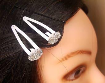 Rhinestone Infinity Symbol Hairclips