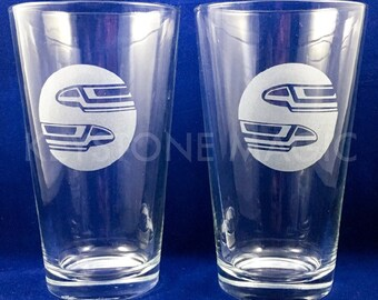 Monorail Pint Glasses • Set of 2