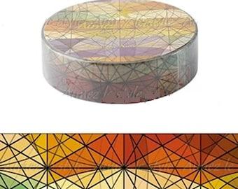 Skylight Autumn Washi Tape Kaleidoscope Washi Tape Autumn Washi Tape Prism Washi Tape  Geometric Washi Tape Triangles Washi Tape