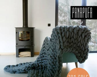 Chunky Knit blanket, Chunky yarn blanket, Knit throw, Super chunky knit blanket, Knit Throw Blanket, extreme chunky yarn blanket,