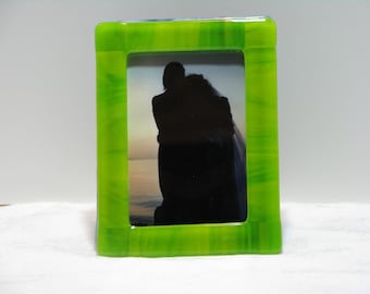 Sour Apple 5X7 Fused Glass Frame