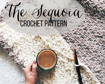 PATTERN: The Sequoia || Easy Block Color Chunky Crochet || Kid's and Adult's Blanket Pattern || Throw Pattern