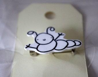 Lawrence the Caterpillar Shrinky Dinks Brooch Pin Shrink Plastic
