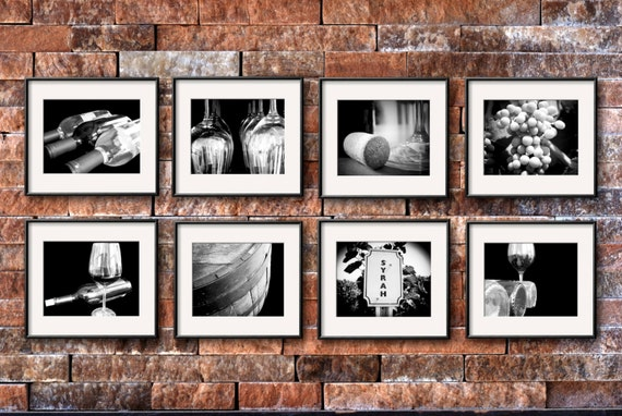 Wine photography set of 8 5x7 or 8x10 prints wine print set