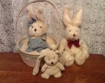 Russ Bunny Rabbits Tumbleweed Bun Easter or Bunny Lovers Lot
