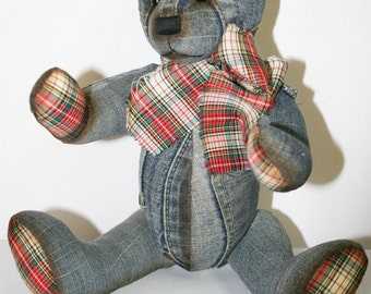 "Denim 32cm/ 12""  Bear Pattern"