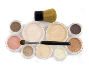 12pc MAKEUP KIT - Getting Started Set - Natural Vegan Mineral Makeup
