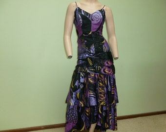 80s Punk Studibaker Hawk VTG Special Occasion dress, corset, collectible S