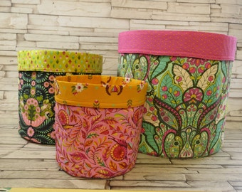 Instant Download - PDF Sewing Pattern -  Store It Reversible Nesting Baskets
