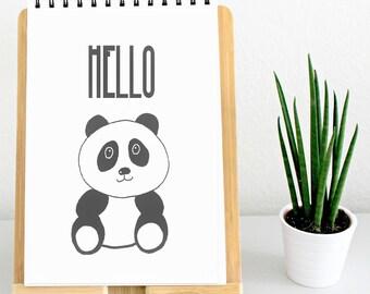 Panda Wall Art | Printable Wall Art, Animal Wall Art, Animal Printable, Panda drawing, Digital art, Wall Art Collage, Instant Download Art
