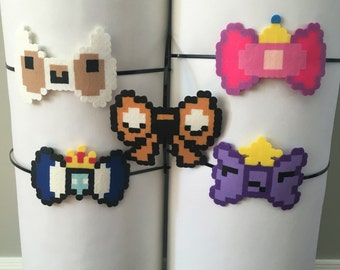 Adventure Time Finn, Jake, Ice King Princess Bubblegum, Lumpy Space Princess Pixel Headband Barrette Pin
