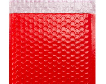 Red Bubble Envelope Bags -  Gloss Postal Coloured Mailing Pouches