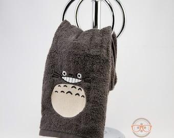 My Neighbor Totoro Hand Towel - Geeky Embroidered Bathroom Towel or Kitchen Decor