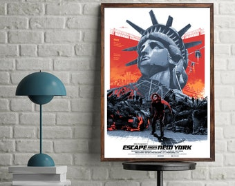 Escape From New York Action Artwork Decoration Movie Poster