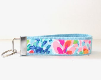 New-Lily Pulitzer Fabric  Key Fob, Catch The Wave Key Fob