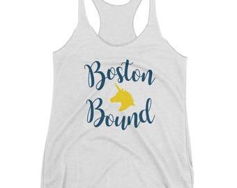 Boston Bound Marathon Qualifier -- Women's Racerback Tank