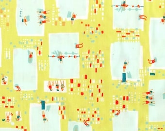 Heather Ross - Munki Munki Fabric - Swimming Pools Poolside - Not Pajamas - OOP Out Of Print VHTF