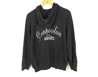 COMPOSITION by KENZO Long Sleeve Hoodies Large Size Fully Zipper