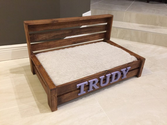 Fabulous Medium Rustic Wood Dog Bed Custom Dog Bed Wooden Dog Bed PM79