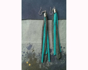 Partly Cloudy Fringe Earrings