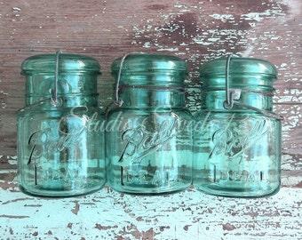 "Shabby Cottage Chic Art, Mason Jar Print, Country Kitchen Photography, Shabby Aqua Rustic Decor, Farmhouse Art, Turquoise Print- ""Aqua Jars"""