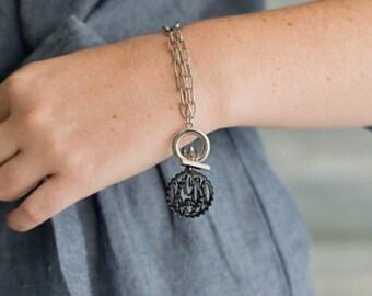 Monogram Scallop Acrylic Bracelet
