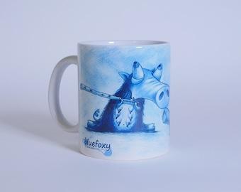 Bluepig mug