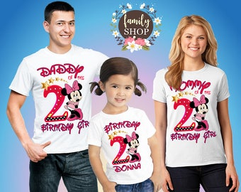 Minnie party shirts, Shirts Minnie Mouse, Birthday Girl, Minnie Mouse party shirts, Personalized shirts, Gift for girl, birthday gift B110