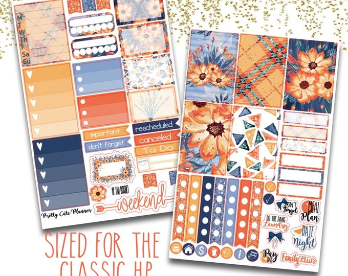 Featured listing image: Happy Planner Fall Bouquet Stickers - Planner stickers - Fall Stickers -  Functional stickers - Fall Planner stickers - Fall Floral Stickers
