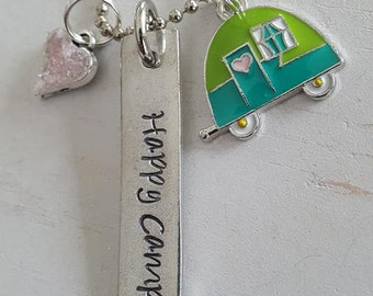 Happy Camper Necklace Set, Gift, Summer, Camping, Birthday, Necklace Set, Happy, Camper