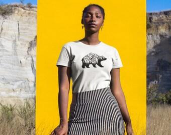 Wild Bear Shirt - Bear Shirt, Animal Shirt, Mountain Shirt, Bear T Shirt, Hipster T-Shirt, Vegan Shirt, Spirit Animal, Adventure Shirt