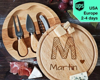 Your Name - personalised Cheese board, Laser Engraved custom serving board