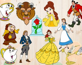 Beauty and the beast Svg, Bundle Beauty & the beast Svg, Eps, Png Cutfiles, belle princess for Cricut, Silhouette cameo, Clipart, Scrapbook