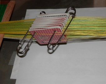 Large Pins suitable for keeping cards organized