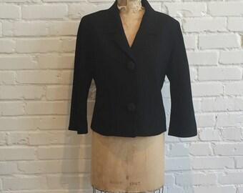 1960s Friedmont Blazer // 60s Black Jacket // Vintage 1960s Black Blazer