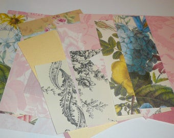 Anna Griffin Decorative Paper Journal Kits Florals Toils Plaids Scrapbook Paper Retired Craft Supplies