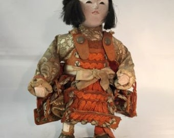 Late 1800's Japanese traditional antique ICHIMATSU warrior doll