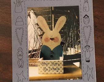 Mr Bunny Box pattern by Palette Primitives