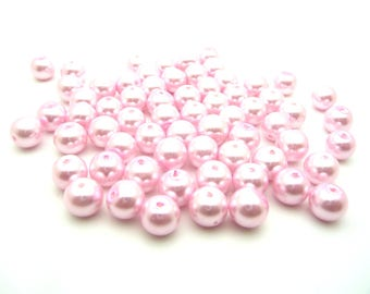 Glass beads Pearl Pink 8mm x 20